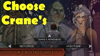 The Wolf Among Us Episode 3 Go to Crane's Apartment First  Choose Pick A Crooked Mile