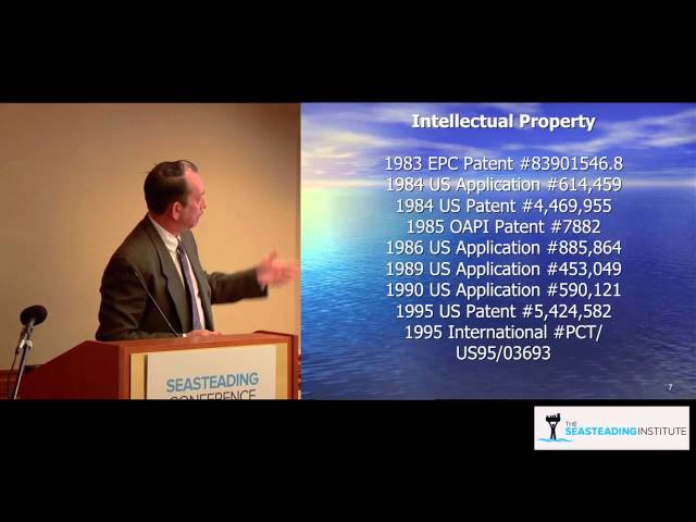 John Trepl on Marine Hydroelectric Company at the Seasteading Conference 2012