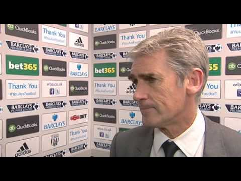 Alan Irvine is interviewed following West Bromwich Albion's 2-1 defeat by West Ham United
