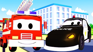 The Car Patrol Compilation: fire truck and police car in Car City | Cars/Trucks cartoon for children
