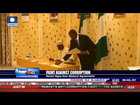 Fight Against Corruption: Buhari Signs New Bilateral Agreements