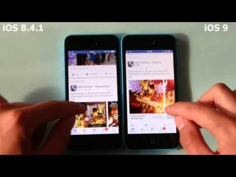 iOS 9 vs iOS 8 4 1 iPhone 5c