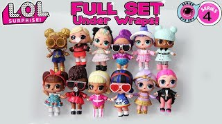 LOL Surprise Series 4 Under Wraps COMPLETE COLLECTION | All Wave 1 LOL Dolls | LOL Doll Videos | LOL