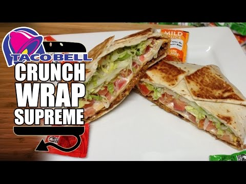 Taco Bell Crunchwrap Supreme Recipe Remake - HellthyJunkFood