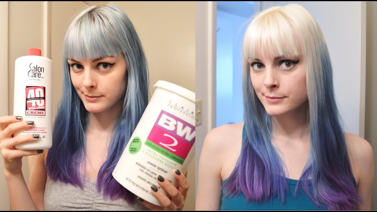 How To Bleach Hair White Bleaching Tutorial Youtube