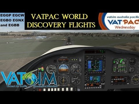 Vatpac World Discovery - Lancair Legacy in the UK on Vatsim Wed 26th Feb