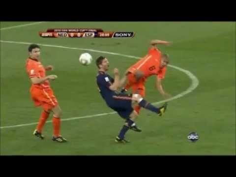 47 fouls Spain vs Netherlands world cup final