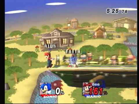 Brawl - 20120114-5 - BAM (Sonic) vs Vato_break (Mario) 1