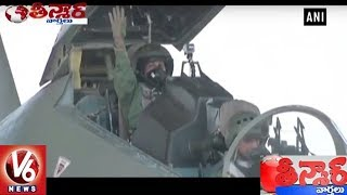 Defence Minister Nirmala Sitharaman Flies In Sukhoi-30 For A 45-Minute Sortie | Teenmaar News