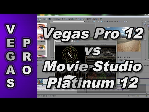 Comparing Sony Vegas Pro 12 to Sony Movie Studio Platinum 12