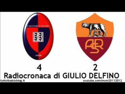 CAGLIARI-ROMA 4-2 – Radiocronaca di Giulio Delfino (1/2/2012) da Radiouno RAI