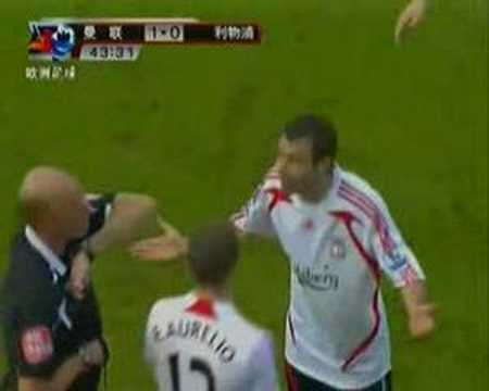 Mascherano   first  red  card
