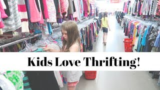 Thrift With Us | Huge Thrift Haul with 4 Kids