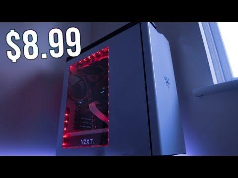 Budget PC RGB Case Lighting   USB LED Light Strip Setup & Review   NZXT H440