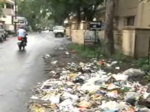 Garbage throwan at Talegaon municipal Council