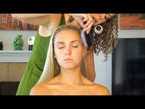 ☺ Relaxing Hair Brushing & Scalp Massage Sounds Stress Relief - Whisper 3D Binaural ASMR Ear to Ear☺