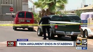 Teen girl stabbed in the face after argument with another teen acquaintance