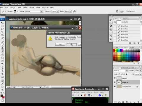 How to paint a sexy girl with photoshop Part 1 Video
