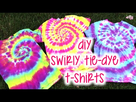 DIY Swirly Tie-Dye T-Shirts   How To   Tutorial