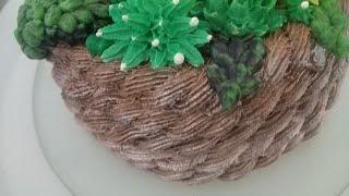Decoração bolo suculentas