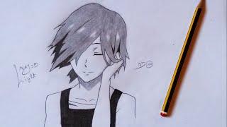 Drawing Touka Kirishima from Tokyo Ghoul √A (Last Episode) 霧嶋 董香