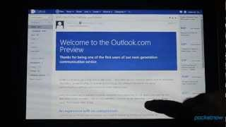 Outlook.com on a Windows 8 Tablet