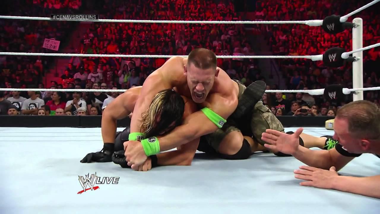 John Cena vs. Seth Rol...Randy Orton Money In The Bank 2014
