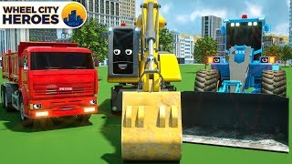 Spec Trucks Excavator Building Airport - Wheel City Heroes (WCH) | New Street Vehicles Cartoon