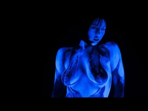 Halo 4 CORTANA Cosplay Body Paint NSFW