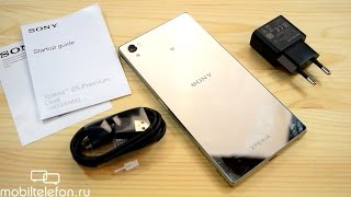 Распаковка хромированного Sony Xperia Z5 Premium (unboxing)