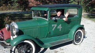 How to start a 1929 Ford Model A & Ride along with the Great Faullsy