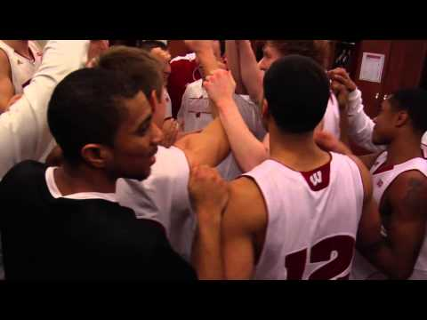 Wisconsin Basketball celebrates win over Michigan