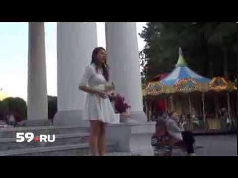 девушка с прекрасным голосом поспорила на концерт)))