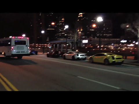 Twin Turbo Gallardo Flybys + FLAMES