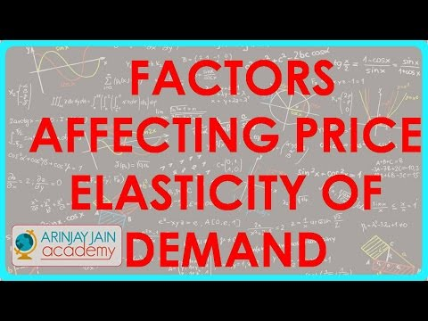 Factors affecting price elasticity of demand cbse