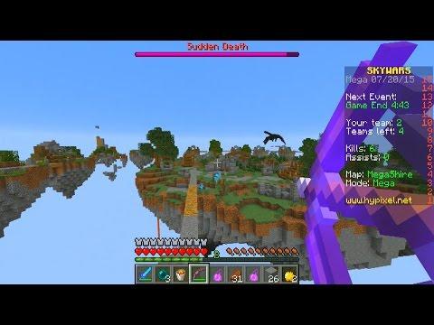 Minecraft 100 PLAYER MEGA SKY WARS #1 with Vikkstar