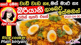 Quick biryani without chicken by Apé Amma