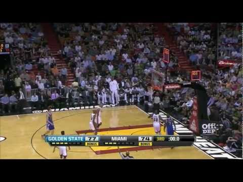Ref takes the ball from Shane Battier (funny)