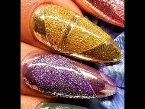 Textured -- LEAF--Chrome Nails ----The TUTORIAL ---LUXA Chrome