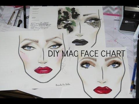 Blank Mac Face Charts Download Diy Printable Mac Face Charts