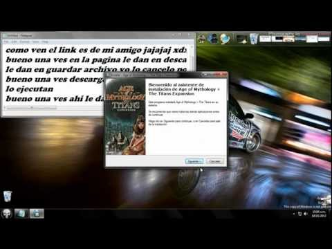 como descargar e instalar el age of mythology the titans expansion