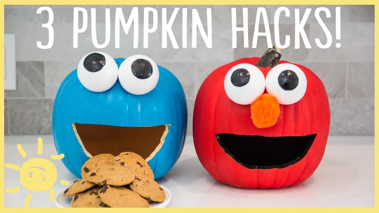 Diy cute easy pumpkin hacks youtube Easy pumpkin painting patterns