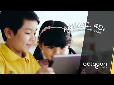 Augmented Reality Flashcards: Animal 4D+ | Octagon Studio