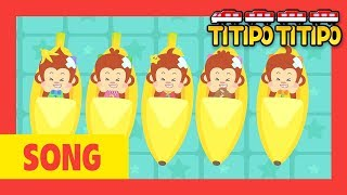 Titipo Five little monkeys l Kids songs +60 mins l Animal songs l Tayo and Titipo