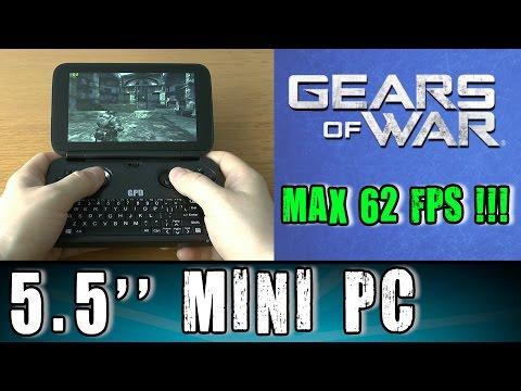 1# GPD Win Gears of War (PC) test Portable Handheld Gaming Mini PC Intel X7 Z8700