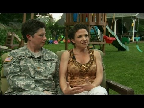 Gay marriage: Same-sex military couple speaks out,US gay marriage ban overturned
