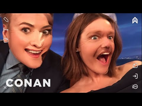 Lucy Hale Face Swaps With Conan  - CONAN on TBS