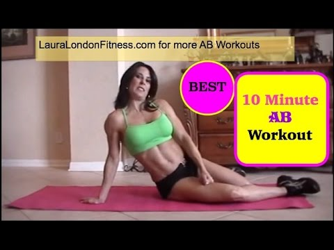 Fitness - 10 Minute ab workout with Laura London Fitness