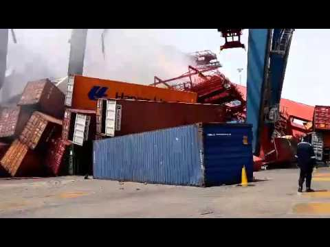 SCCT‎‏ A devastating fire Suez Canal Container Company in East Port Said