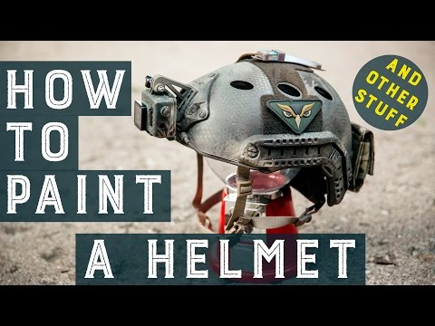 How to Paint a Helmet and other Stuff   Airsoft Paintjob Tutorial